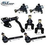 DLZ 7 Pcs Suspension Kit-4 Front Lower Ball Joints, 2 Inner Tie Rod Ends, 1 Idler Arm for 1994 Nissan D21 4WD, 1993 1994 1995 Nissan Pathfinder, 1995 1996 1997 Nissan Pickup 4WD Reviews