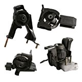 4pc Motor Engine Mounts Set Kit for Toyota Corolla (03-08), Matrix (03-06), Pontiac Vibe (03-07) - 1.8L 4Cylinder Automatic Transmission - 2003 2004 2005 2006 2007 2008