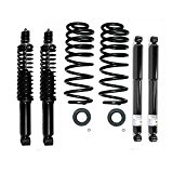 Prime Choice Auto Parts SCK78003 Front And Rear Suspension Air Bag To Coil Spring Conversion Kit 4WD