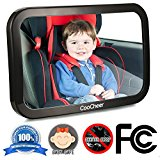 COOCHEER Baby Back Seat Mirror, View Infant in Rear Facing Car Seat, Crash Tested and Certified for Safety, Mirror To See Baby In Car Seat,Compatible with All Cars Autos & SUV
