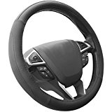 SEG Direct Black Microfiber Leather Auto Car Steering Wheel Cover Universal 15 inch Reviews
