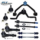 DLZ 10 Pcs Front Suspension Kit-2 Upper Control Arm & Ball Joint Assembly, 2 Lower Ball Joint, 2 Outer 2 Inner Tie Rod End, 2 Sway Bar for 1998 1999 2000 2001 Ford Explorer/Ford Explorer, Mazda B4000 Reviews