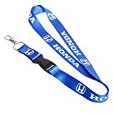 Honda Lanyard Quick Release Key Chain – JDM Blue Civic Accord CR-V Odyssey Fit CR-Z Crosstour Insight Pilot Ridgeline FCX Clarity Powersports Racing keychain
