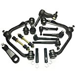 PartsW 18 Piece Front Suspension Kit for Ford Expedition F-150, F-150 Heritage F-250 Lincoln Navigator, Control Arms with Ball joints and Bushings Pitman and Idler Arms Tie Rod Ends Adjusting Sleeves