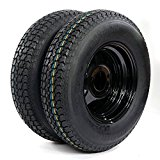 13″ Trailer Wheel & Tire with Bias ST175/80D13 Tire Mounted (5×4.5 bolt circle) Black Spoke, Set of 2