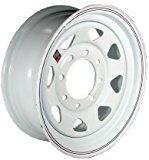 16″ x 6″ White Spoke Trailer Wheel (8-6.5″ Bolt Circle)