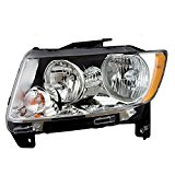Drivers Halogen Headlight Headlamp with Chrome Bezel Replacement for Jeep SUV 68088869AC