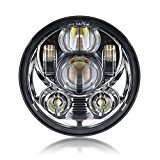 5-3/4 5.75 Inch Daymaker Projector LED Headlight for Harley Davidson Motorcycles Headlamp 45W Chrome