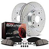 Power Stop K4631 Rear Z23 Evolution Brake Kit with Drilled/Slotted Rotors and Ceramic Brake Pads