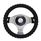 Automotive Steering Wheel Cover – TKOOFN Soft & Breathable EVA Foam Cover Fit for Car Steering Wheel with 38cm/15″ Diameter, Black / Blue, M06001-02
