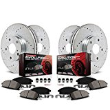 Power Stop K5879 Front and Rear Z23 Evolution Brake Kit with Drilled/Slotted Rotors and Ceramic Brake Pads