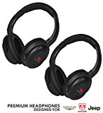 Compatible uConnect VES Headphones by DriveAudio for Dodge Grand Caravan AND Chrysler Town & Country and Jeep (2 Pack) OEM Car Headsets 2006 2007 2008 2009 2010 2011 2012 2013 2014 2015 2016 2017 2018