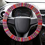 A-lighting Multi-Color Flax Cloth Car Steering Wheel Cover – HANDMADE