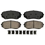 Wagner QuickStop ZD1258A Ceramic Disc Pad Set Includes Pad Installation Hardware, Front