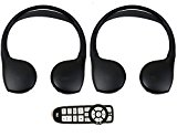 Chrysler Town and Country DVD Headphones Headsets (Set of Two) and One Remote Control 2008 2009 2010 2011 2012 2013