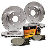 Max KT045733 Front + Rear Premium Slotted & Drilled Rotors and Ceramic Pads Combo Brake Kit Reviews