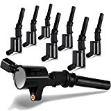 ECCPP Ignition Coils Curved for Ford Lincoln Mercury 4.6L 5.4L Compatible with DG508 DG457 FD503(Pack of 8)