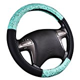 NEW ARRVIAL – CAR PASS Delray Lace and Spacer Mesh Steering wheel covers universal for vehicles,Suv (Mint)