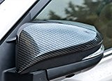 Kust fx7129w Car Side Mirror Cover,Door Mirror Chrome Cover Trims For 2014 2015 2016 Rav4 Toyota (Pack of 2 ABS Carbon Fiber Pattern Trims Fit for Car Door Side Rear View Mirror Side)
