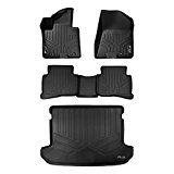 MAXFLOORMAT Floor Mats and MAXTRAY Cargo Liner for Kia Sportage (2017) Complete Set (Black)